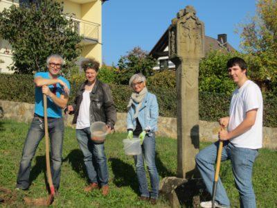 Christian, Matthias, Roswitha und Johannes während unserer Aktion