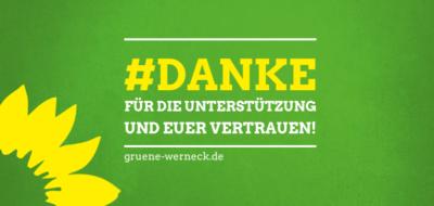 Grünes Danke Landtagswahlen - Bezirkswahlen 2018