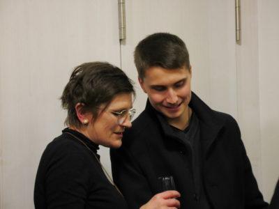 Kreisrätin Birgit Schmitt im Gespräch mit Thomas Vollmuth