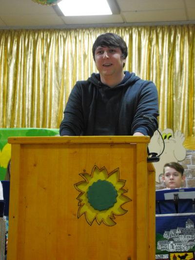 Kreissprecher Johannes Weiß bei seiner Rede