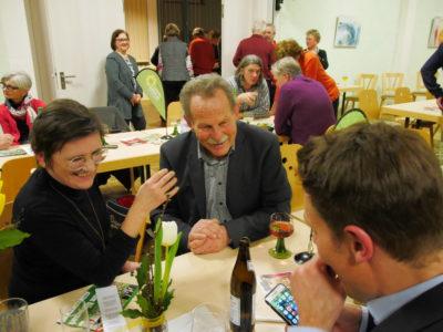 Birgit Schmitt mit Paul Knoblach und Ludwig Hartmann