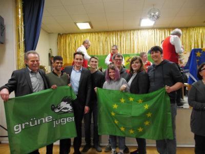 Grüne Jugend Schweinfurt mit Paul Knoblach, Ludwig Hartmann und Johannes Weiß