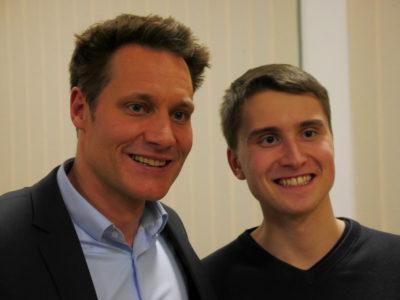 MdL Ludwig Hartmann mit Grüne Jugend Sprecher Thomas Vollmuth