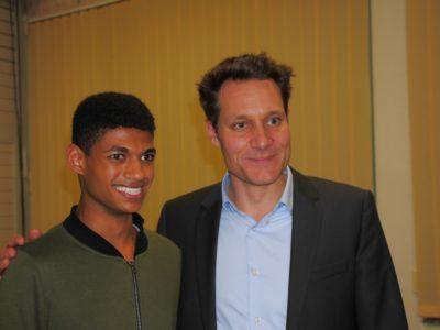 Brandon Crescente mit MdL Ludwig Hartmann