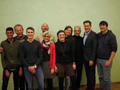 Grüner Ortsverband Werneck mit MdL Paul Knoblach, MdB Manuela Rottmann und MdL Ludwig Hartmann