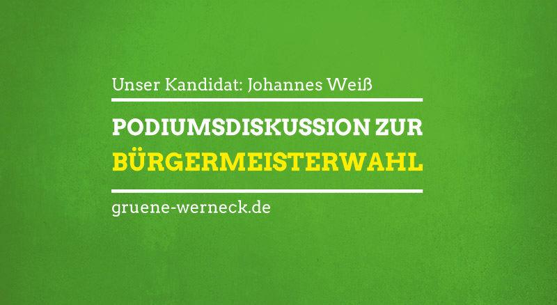 Podiumsdiskussion zur Bürgermeisterwahl 2020 im Markt Werneck
